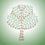 Tree pattern. To protect the environment.  format Royalty Free Stock Image