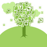 Tree of peace. The tree on a grass from illustrations about ecology and peace stock illustration