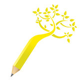 Tree pencil concept illustration design Royalty Free Stock Images
