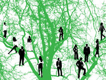 Tree and people Royalty Free Stock Photography