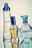 Tree perfume bottles Royalty Free Stock Photos