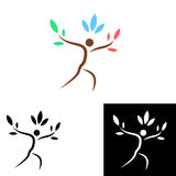Tree person logo design Stock Photography