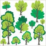 Tree Clip Art. Vector trees  Clip art Royalty Free Stock Photo