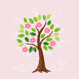 Tree with pink flower Royalty Free Stock Image