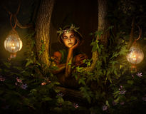 Tree Pixie, 3d CG Royalty Free Stock Images