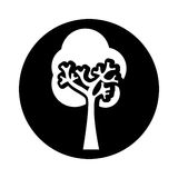 Tree plant ecological icon Royalty Free Stock Photography