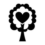 Tree plant with heart ecological icon Royalty Free Stock Photography