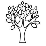 Tree plant with leaves design Stock Photo