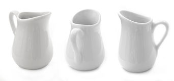 Tree Porcelain Milk Pots Stock Images