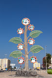Tree with portraits of the sheikhs, Umm Al Quwain Stock Photography