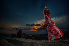 Tree Pose,Vrksasana Royalty Free Stock Images
