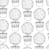 Tree in a pot pattern Stock Image