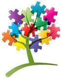 Tree puzzle Stock Image