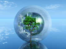 Tree in puzzle bubble. A tree in a bubble puzzle Royalty Free Stock Photos