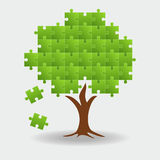Tree puzzle colorful background Royalty Free Stock Image