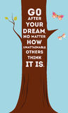 Tree with quote. vector illustration