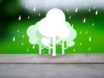 Tree and rain eco concept Stock Photography