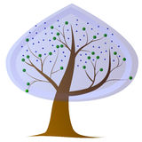 Tree rain growth plant. Forest icon Stock Images