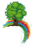 Tree and rainbow Stock Photography