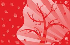 Tree red Royalty Free Stock Images