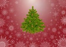 Tree_Red_Background Zdjęcia Stock
