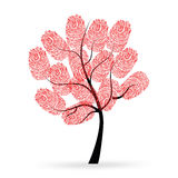 Tree with red finger prints vector. Background Stock Images