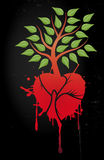 Tree with red heart Royalty Free Stock Photo