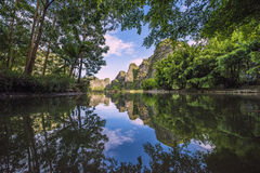 Tree Reflection. Treen Reflection in Tamccoc Vietnam royalty free stock image
