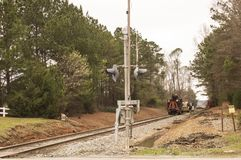 Tree Removal from Tornado Damage. `Tree Removal from Tornado Damage`, is a photo taken on North-Folk Rail Line, in Fortson, Georgia royalty free stock photos