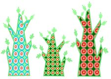 Tree retro pattern Stock Photos