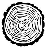 Tree-ring illustration Stock Image