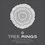 Tree rings background and saw cut tree trunk vector, royalty free illustration
