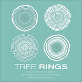 Tree rings background and saw cut tree trunk vector, forestry and sawmill. Royalty Free Stock Photos