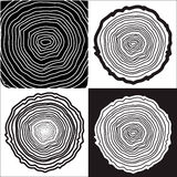 Tree rings. Background and saw cut tree trunk vector, forestry and sawmill vector illustration