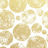 Tree rings gold seamless pattern. Abstract gold tree circles seamless pattern. Golden foil gilding texture. Vector circular lines glitter of tree growth annual Royalty Free Illustration