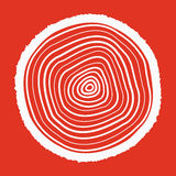 The tree rings icon. Tree Rings symbol. Flat. Vector illustration Stock Photo
