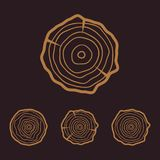 Tree rings icons  illustration. Abstract age annual. Circl Royalty Free Stock Image