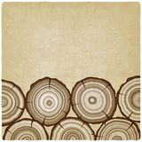 Tree rings old background Stock Photo