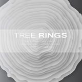 Tree rings with saw cut tree trunk Stock Images