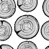 Tree rings seamless pattern. Saw cut tree trunk background. Saw cut tree trunk background. Tree rings seamless pattern Stock Photography