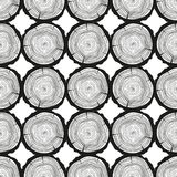 Art creative. Illustration. Tree rings. Seamless pattern. Set of tree rings on isolation background. Conceptual graphics. Line art. Objects for design Royalty Free Stock Images