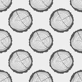 Art creative. Illustration. Tree rings. Seamless pattern. Set of tree rings on isolation background. Conceptual graphics. Line art. Objects for design Stock Photo