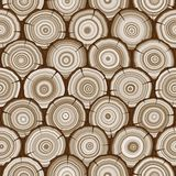 Tree rings seamless pattern Royalty Free Stock Photos