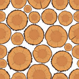 Tree Rings Seamless Pattern Royalty Free Stock Image