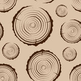 Tree Rings seamless. Saw cut the tree trunk background. cross section of the trunk with tree rings. vector illustration