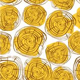 Tree Rings Seamless Vector Pattern. S. Aw cut tree trunk background. Vector illustration for textile, print, wallpapers, wrapping royalty free illustration