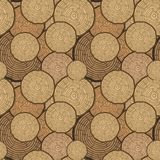 Tree Rings Seamless Vector Pattern. Saw cut tree trunk background. Vector Illustration. Tree Rings Seamless Vector Pattern. Saw cut tree trunk background royalty free illustration