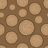 Tree Rings Seamless Vector Pattern. Saw cut tree trunk background. Vector Illustration. royalty free illustration