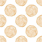 Tree Rings Seamless Vector Pattern. Saw cut tree trunk background. Vector Illustration royalty free illustration