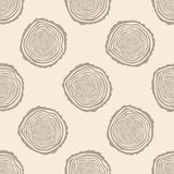 Tree Rings Seamless Vector Pattern. Royalty Free Stock Photography
